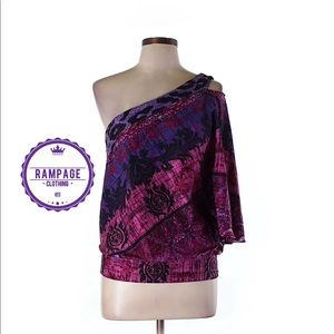 Rampage One Shoulder Blouse NEW!